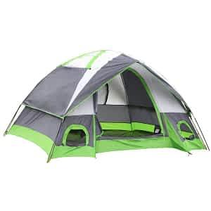 Semoo Water Resistant D-Style Door, 4-Person Camping Tent