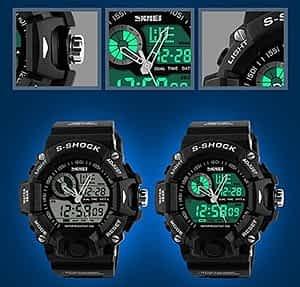 Fanmis Men's Women's Sport Digital LED Watch