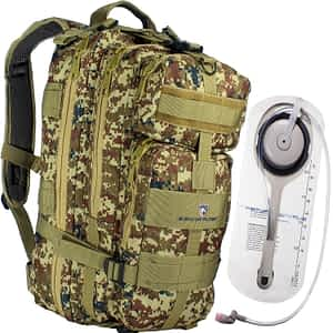 Survivor Filter Tactical Hydration Hiking and Emergency Waterproof Backpack