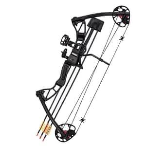 SAS 25-55 Lb 20-29'' Adjustable Quad Limb Compound Bow