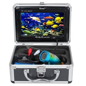 """7"""" Color LCD 600tvl Waterproof 15m Cable 4000mah Rechargeable Battery Fish Finder Underwater Fishing Video Camera with Carry Case-"""